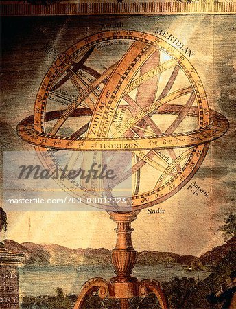 Illustratioin of Armillary Sphere Astronomical Instrument Stock Photo - Rights-Managed, Image code: 700-00012223