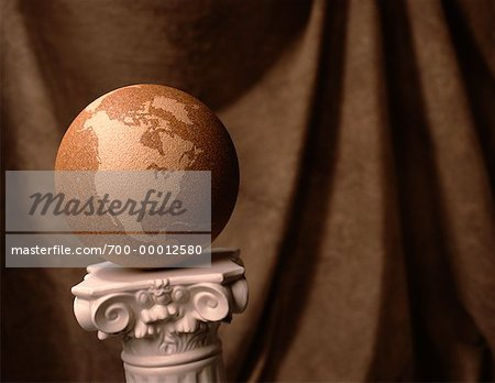 Globe on Pedestal North and South America Stock Photo - Rights-Managed, Image code: 700-00012580