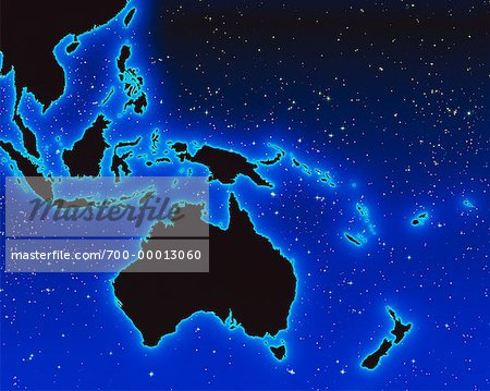 World Map Pacific Rim    Stock Photo - Premium Rights-Managed, Artist: Imtek Imagineering, Code: 700-00013060