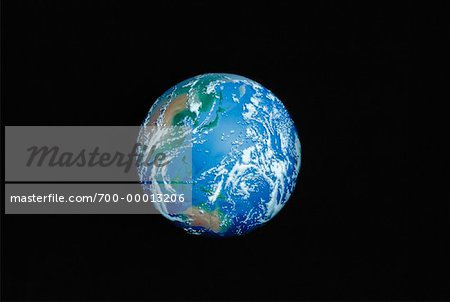 Earth from Space Pacific Rim