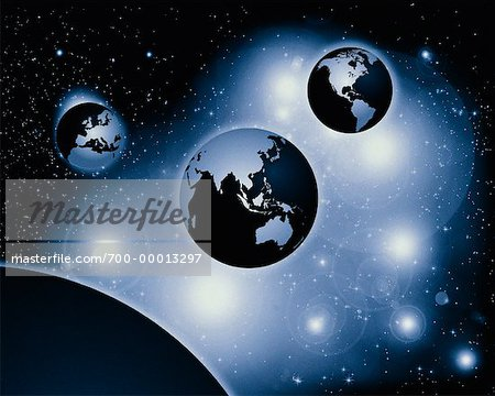 Three Globes Pacific Rim, North and South America, Europe and Africa Stock Photo - Rights-Managed, Image code: 700-00013297