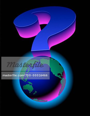 Globe as Question Mark Pacific Rim and North America Stock Photo - Rights-Managed, Image code: 700-00016466