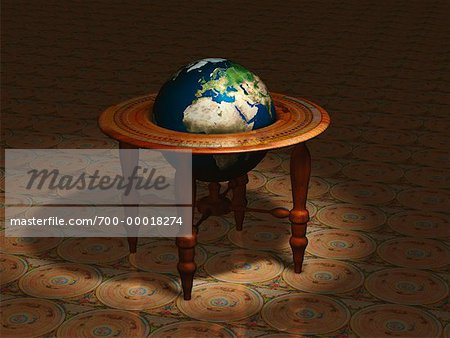 Globe on Stand Europe and Africa Stock Photo - Rights-Managed, Image code: 700-00018274