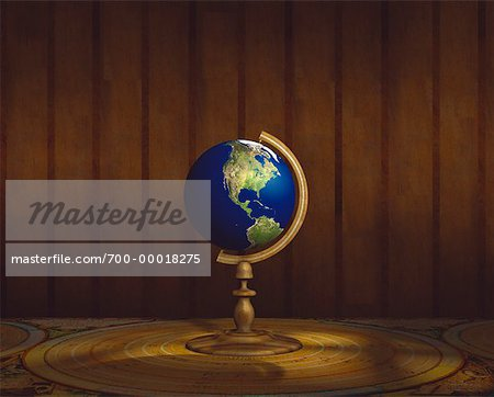 Globe on Stand Pacific Rim Stock Photo - Rights-Managed, Image code: 700-00018275