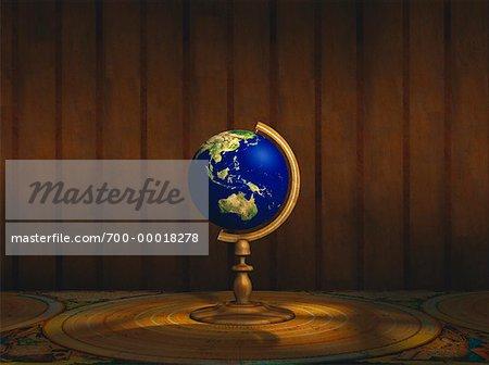 Globe on Stand North America Stock Photo - Rights-Managed, Image code: 700-00018278
