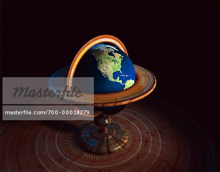 Globe on Stand North America Stock Photo - Rights-Managed, Image code: 700-00018279