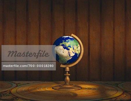 Globe on Stand Europe & Africa Stock Photo - Rights-Managed, Image code: 700-00018280