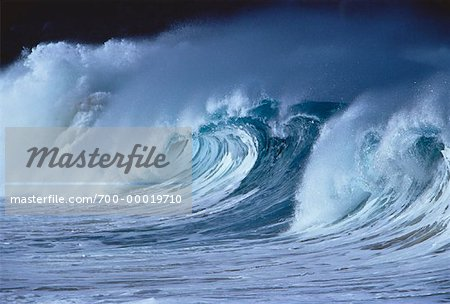 Waves Off Oahu Hawaii, USA Stock Photo - Rights-Managed, Image code: 700-00019710