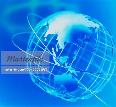 Wire Globe and Shadow Pacific Rim Stock Photo - Rights-Managed, Image code: 700-00021917