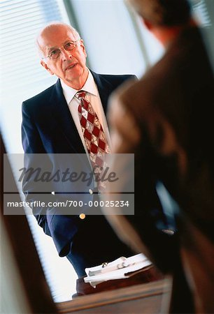 Mature Businessmen Talking Stock Photo - Rights-Managed, Image code: 700-00025234