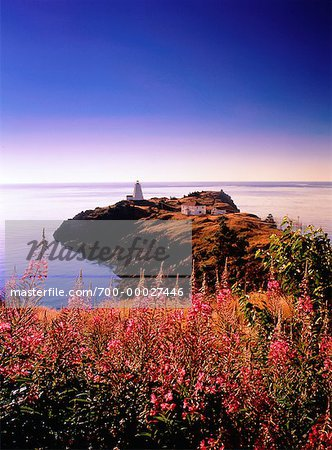 Swallowtail Lighthouse at Sunrise Grand Manan Island, New Brunswick Canada Stock Photo - Rights-Managed, Image code: 700-00027446
