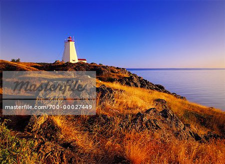 Swallowtail Lighthouse at Sunrise Grand Manan Island, New Brunswick Canada Stock Photo - Rights-Managed, Image code: 700-00027449