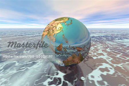 Globe Pacific Rim Stock Photo - Rights-Managed, Image code: 700-00028197