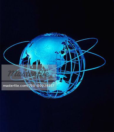 Wire Globe and Rings Pacific Rim Stock Photo - Rights-Managed, Image code: 700-00028957