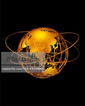 Wire Globe with Rings Pacific Rim Stock Photo - Rights-Managed, Image code: 700-00028965