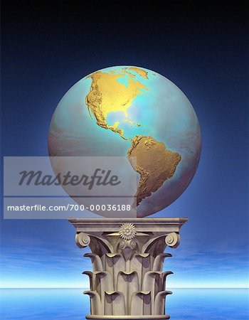 Globe on Pedestal North and South America Stock Photo - Rights-Managed, Image code: 700-00036188