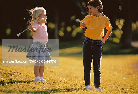 Girls with Batons Outdoors Stock Photo - Rights-Managed, Image code: 700-00044776