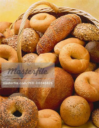 Basket of Assorted Breads Stock Photo - Rights-Managed, Image code: 700-00045825