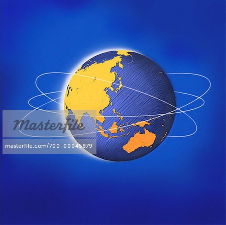 Globe with Rings Asia and Australia Stock Photo - Rights-Managed, Image code: 700-00045879