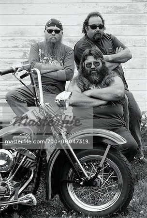 Portrait of Bikers with Motorcycle, Marmora, Ontario Canada Stock Photo - Rights-Managed, Image code: 700-00047319