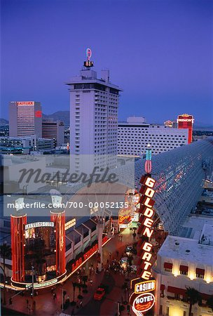 Overview of Hotels and Casinos at Night, Las Vegas, Nevada, USA Stock Photo - Rights-Managed, Image code: 700-00052135