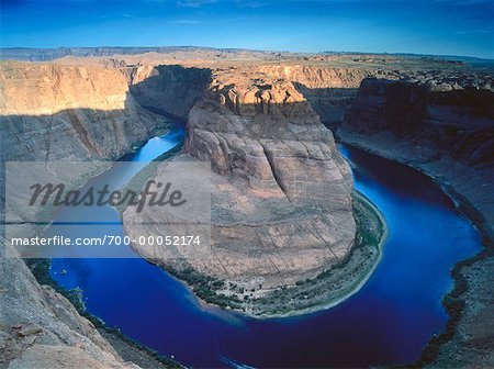 Horseshoe Bend, Colorado River Near Page, Arizona, USA