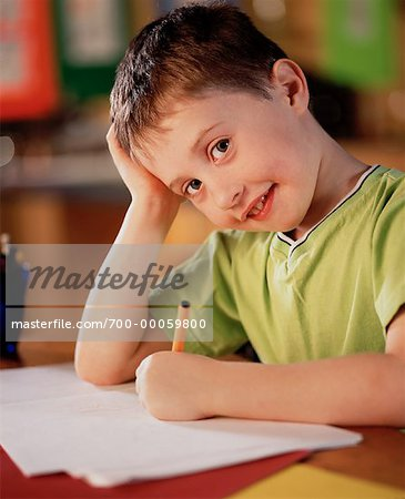 Of people learning in school student male write boy writing child