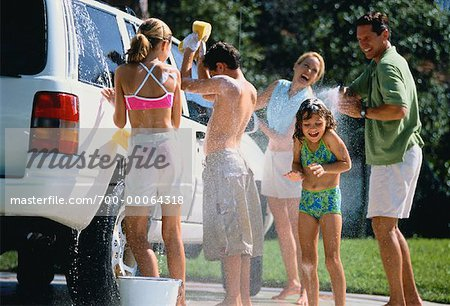 Family Washing Car Stock Photo - Rights-Managed, Image code: 700-00064318