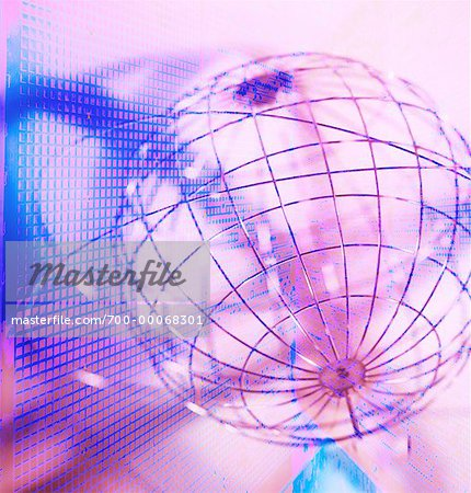 Wire Sphere with Rings and Abstract Grids