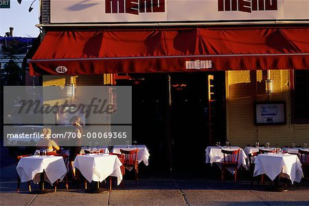 Outdoor Cafe, Meat Packing District, New York, New York, USA Stock Photo - Rights-Managed, Image code: 700-00069365