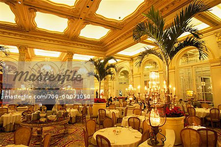 Palm Court in The Plaza Hotel New York, New York, USA Stock Photo - Rights-Managed, Image code: 700-00071050