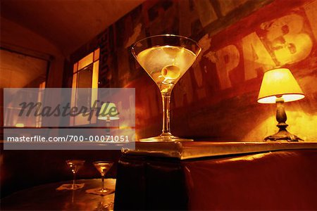 Martini on Booth Divider, Soho New York, New York, USA Stock Photo - Rights-Managed, Image code: 700-00071051