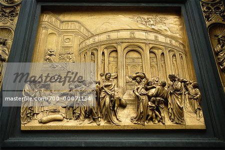 Picture on Wall Baptistry San Giovanni Florence, Italy Stock Photo - Rights-Managed, Image code: 700-00071134