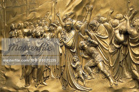 Close-Up of Picture on Wall Baptistry San Giovanni Florence, Italy Stock Photo - Rights-Managed, Image code: 700-00071135