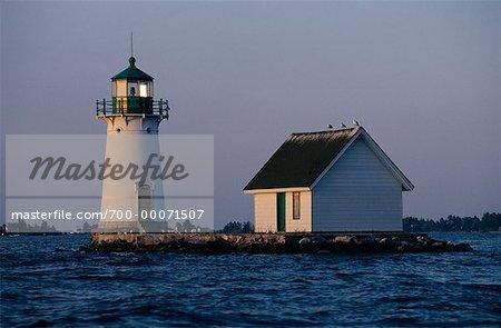 Sunken Rock Lighthouse, Off Alexandria, New York, USA