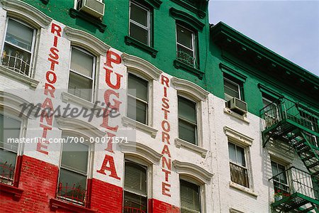 Looking Up at Restaurant in Little Italy, New York, New York USA Stock Photo - Rights-Managed, Image code: 700-00071571