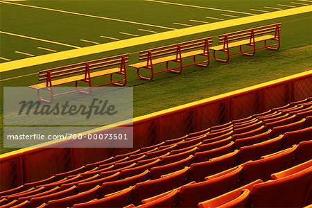 Rows of Empty Stadium Seats Stock Photo - Rights-Managed, Image code: 700-00073501