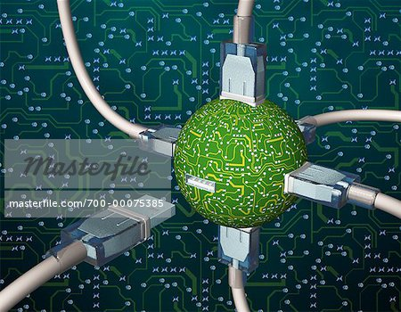 USB Connectors in Circuit Board Sphere