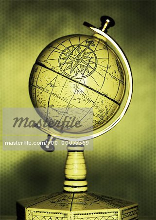 Antique Globe Stock Photo - Rights-Managed, Image code: 700-00077369