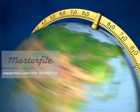 Blurred View of Globe Spinning On Stand Asia Stock Photo - Rights-Managed, Image code: 700-00080712