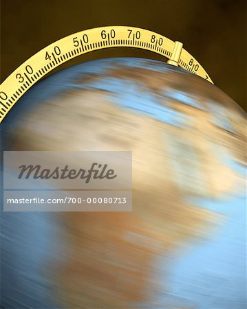 Blurred View of Globe Spinning On Stand Africa Stock Photo - Rights-Managed, Image code: 700-00080713