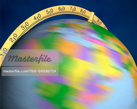 Blurred View of Globe Spinning On Stand Africa Stock Photo - Rights-Managed, Image code: 700-00080714