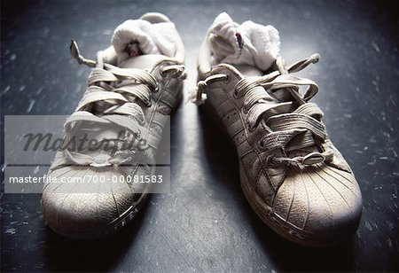 Running Shoes with Socks Stuffed Inside Stock Photo - Rights-Managed, Image code: 700-00081583