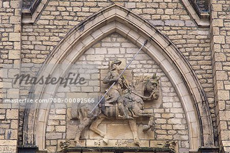 Close-Up of Statue on Cathedral St. Croix, Switzerland Stock Photo - Rights-Managed, Image code: 700-00082566