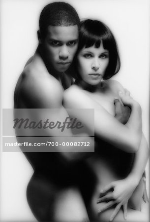 Portrait of Nude Couple Embracing Stock Photo - Rights-Managed, Image code: 700-00082712