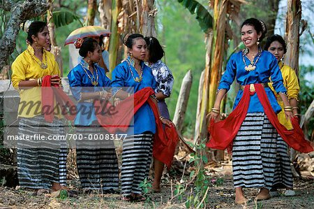 Group of Women in Traditional Attire, Bau Bau, Sulawesi Indonesia