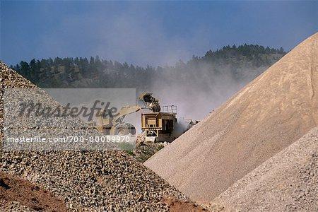 Open Pit Gravel Mining Utah, USA