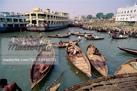 River Taxis, Dhaka, Bangladesh Stock Photo - Rights-Managed, Image code: 700-00090751