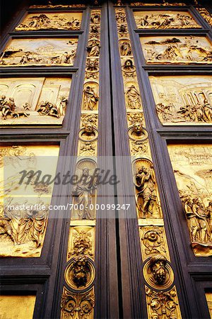 Cathedral Doors Florence, Italy Stock Photo - Rights-Managed, Image code: 700-00099247