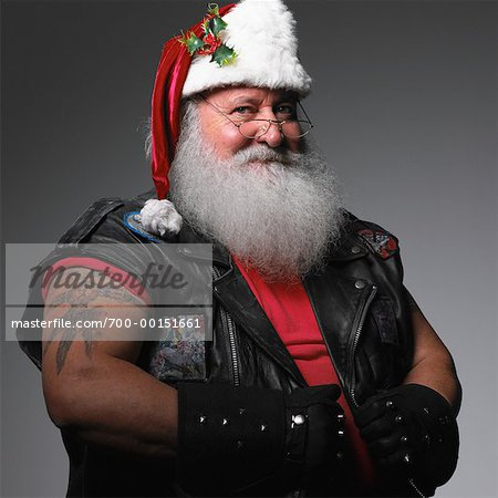 Biker Santa Claus